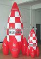 inflable modelo de cohetes para el anuncio