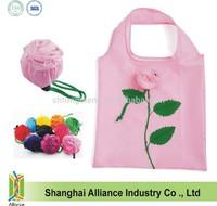 Foldable Rose Shopping Bag, Rose Flower bag