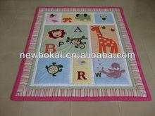 Popular handmade animal applique 100% cotton quilt/comforter for kids 3 pcs