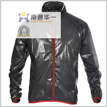 long sleeve light weight transparent rain bike jacket