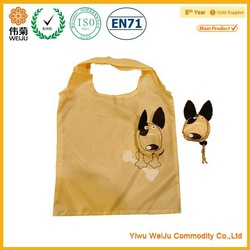 190T polyester reusable foldable shopping bag