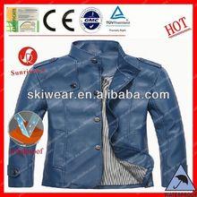 popular windproof and waterproof kids black leather jacket