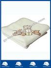 Polyester baby cotton fabric binding edge polar Fleece Blanket with animal applique emb