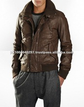 Men's Winter Plain Dyed Gents Genuine Leather Jackets