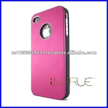 Matte Aluminum hard cell phone case for Appple iphone 4G/4S with high quality