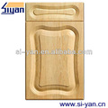 pvc gabinete de cocina de madera tallada puerta
