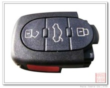 Round VW Remote Control Shell 3+1 Button Exclude Flip Head [ AS001004 ]
