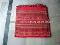 red kerala handloom printed bedsheets