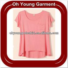 OEM Popular Women T-Shirt 2013 Wholesale/100 Polyester T Shirts Wholesale