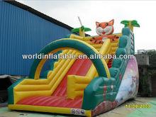 2013 hot-selling commercial inflatable tiger slide