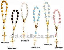 2015 baby shower carino braccialetto rosario di cristallo per le ragazze