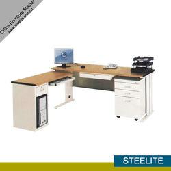 OD-4S L Shape Wooden Top Steel Desk