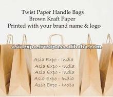 Brown Kraft Paper Shopping Bags