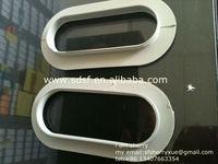 white plastic handles corrugated boxes