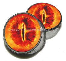 Eye of Sauron Logo UV Acrylic Body Ear Piercing Tunnel Plug Jewelry
