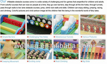 Most Excited Inflatable Obstacle Course game / Kids Outdoor Playground