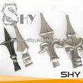 Ornamentales de hierro forjado punta de lanza de hierro finials valla, remate de metal cerca
