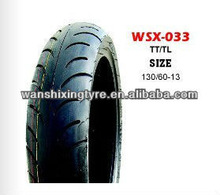 Motorcycle tubeless tire 130/60-13