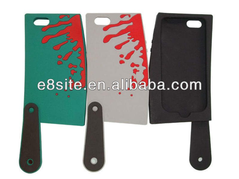 3D Knife Design Silicone Case For iPhone 5