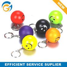 Smiley Face Keychain PU Stress Ball