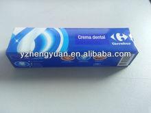 35 g para blanquear pasta de dientes, Fórmula química pasta de dientes