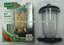 plastic bird feeder with suction cup / hanging pet feeder / window bird feeder