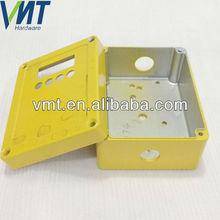 custom yellow plating die cast part aluminum junction box