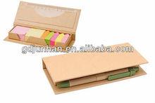 promotional pocket sticky notepad with pen