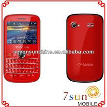 2.4 inch Spreadtrum dual sim tv Loudspeaker qwerty keyboard wifi phone V7