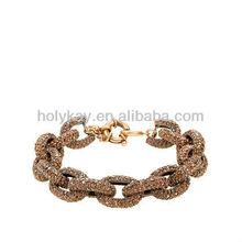 Crystal pave bracelet, shiny chunky chian link bracelet, 2014 New arrive noble design fashion accessories