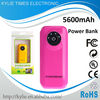 5600mah new 2013 power bank for iphone 5 4s ipad 2 red color paypal portable usb power bank charger