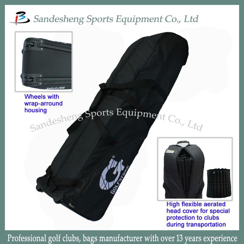 Water-proof Canvas Golf Travel Bag, Golf Flight Bag
