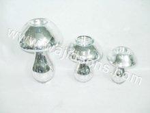 TLITE MUSHROOM SILVER GLASS