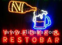LED electronic sign videoke bar beer flowing