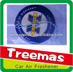 Paper air freshener for car deodorizer
