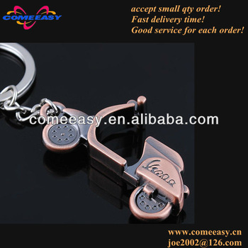 wholesale dollar shop promotion bronze motorcycle gifts key chain