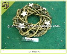 Natural stick wooden rattan christmas garlands