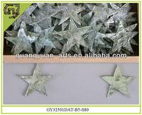 natural bark pieces star shape Christmas ornaments