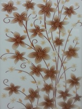 Flower design Decor tiles many sizes for choice