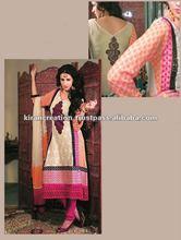 Cream designer shalwar kameez Material
