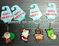 Christmas tree snowman sock toy fridge magnet soft pvc keychain