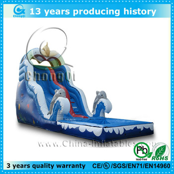 2014 hot sale inflatable water slide for kids and adults