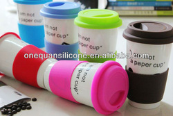 fexible silicone rubber cup sleeve,silicone coffee cup sleeve