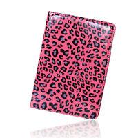 leopard pu case for ipad skin cover