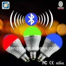 hot wholesale products!iPhone control led dome bulbs with bluetooth