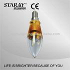 Light Bulb Plastic Cover LED PLC Bulb Plastic Lamp Bulb Cover 3w E14/E27 Golden/Silver