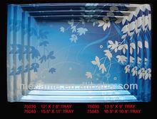 "12""-16.5'melamine plastic serving trays"