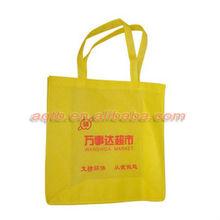 Yellow color non woven fabric shopping bag