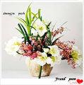 atacado cerâmica vasos de flor artificial de látex flores e plantas