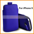 Azul escuro para o apple i- telefone iphone celular bolsa saco caso